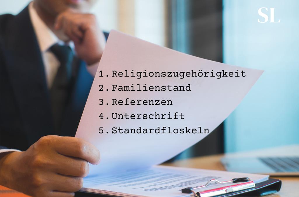 5 Angaben, die nicht in jede Bewerbung gehören